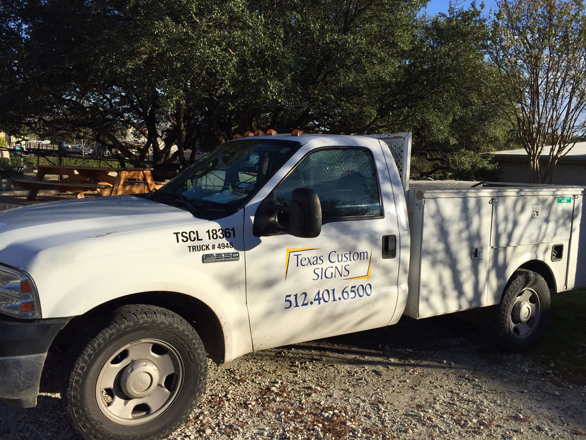 The Texas Custom Signs Fleet