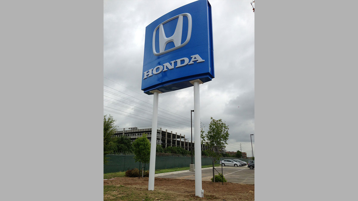 Honda Sign Installed By Texas Custom Signs