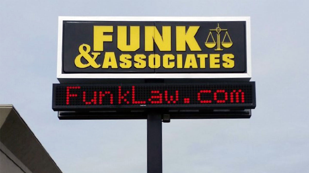 Funk & Associates Sign built and installed by Texas Custom Signs