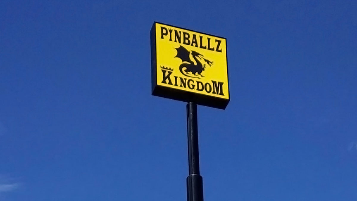 Pinballz Kingdom Sign Built And Installed By Texas Custom Signs
