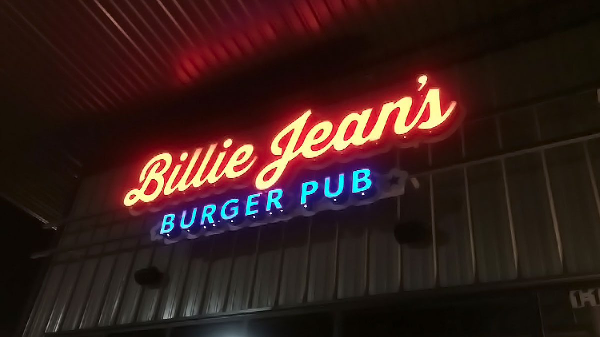 Billie Jean's Sign Built And Installed By Texas Custom Signs