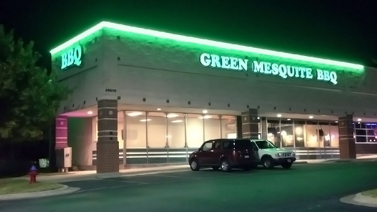 Green Mesquite Sign Built And Installed By Texas Custom Signs