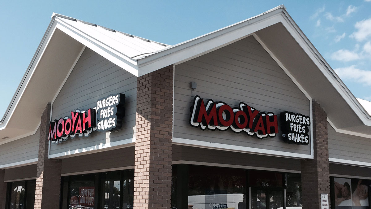 Mooyah Sign Built And Installed By Texas Custom Signs