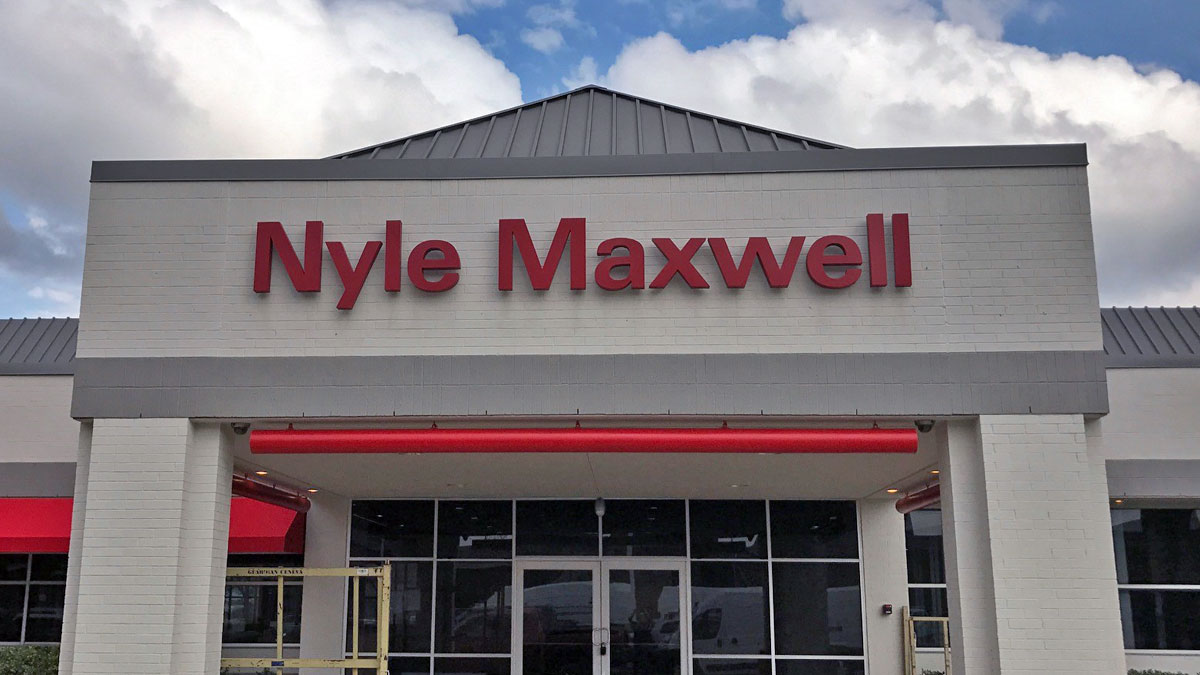 Nyle Maxwell Cabinet Sign In Austin, Texas