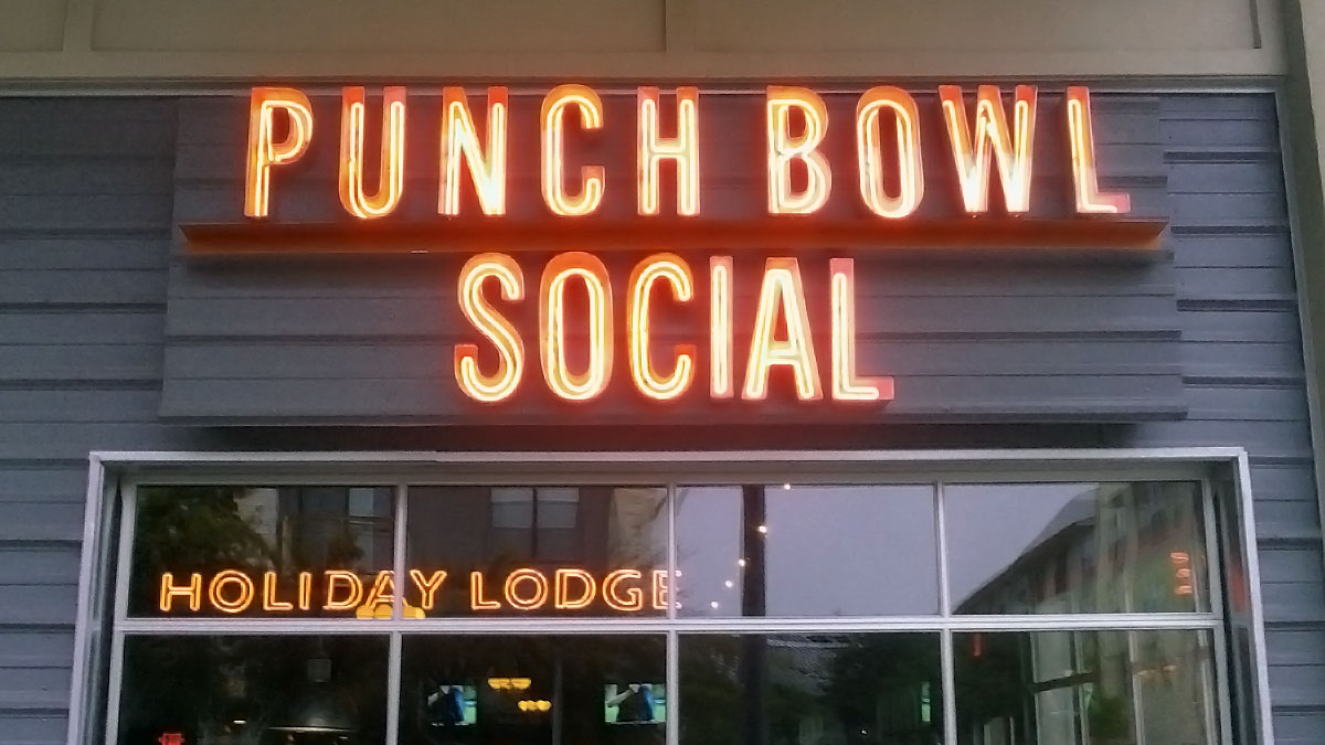 Punch Bowl Social Sign Built And Installed By Texas Custom Signs