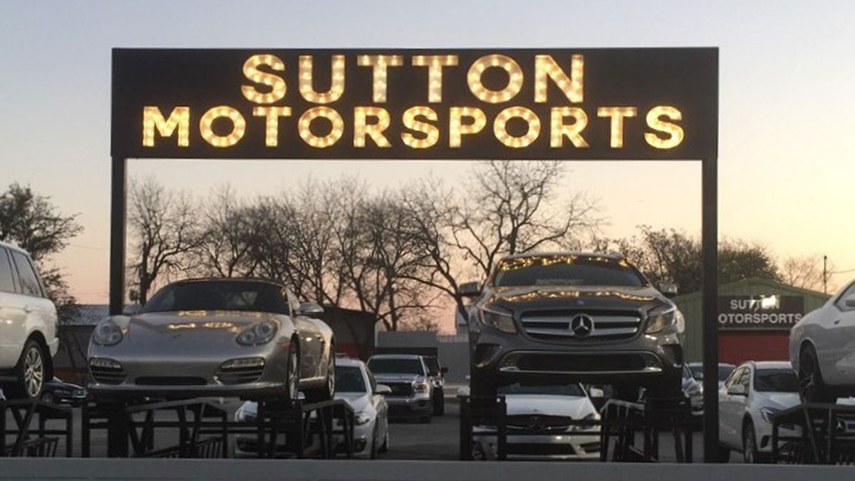 Sutton Motorsports sign In Austin, Texas