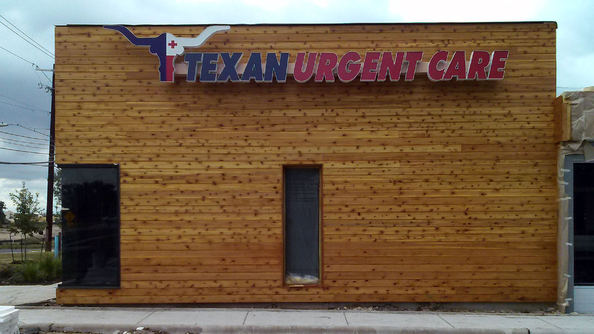 Texan Urgent Care Sign built and installed by Texas Custom Signs