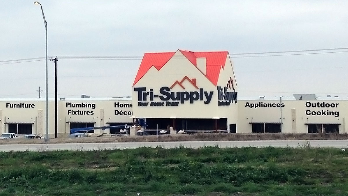 Tri_Supply Sign Built And Installed By Texas Custom Signs