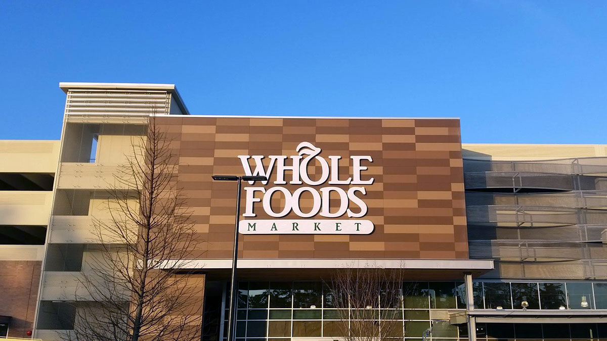 Whole Foods Sign Built And Installed By Texas Custom Signs