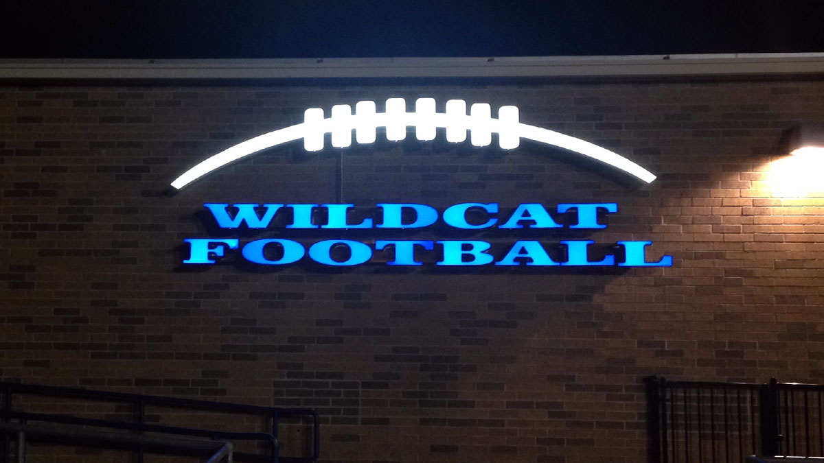 Wildcat Football Sign Built And Installed By Texas Custom Signs