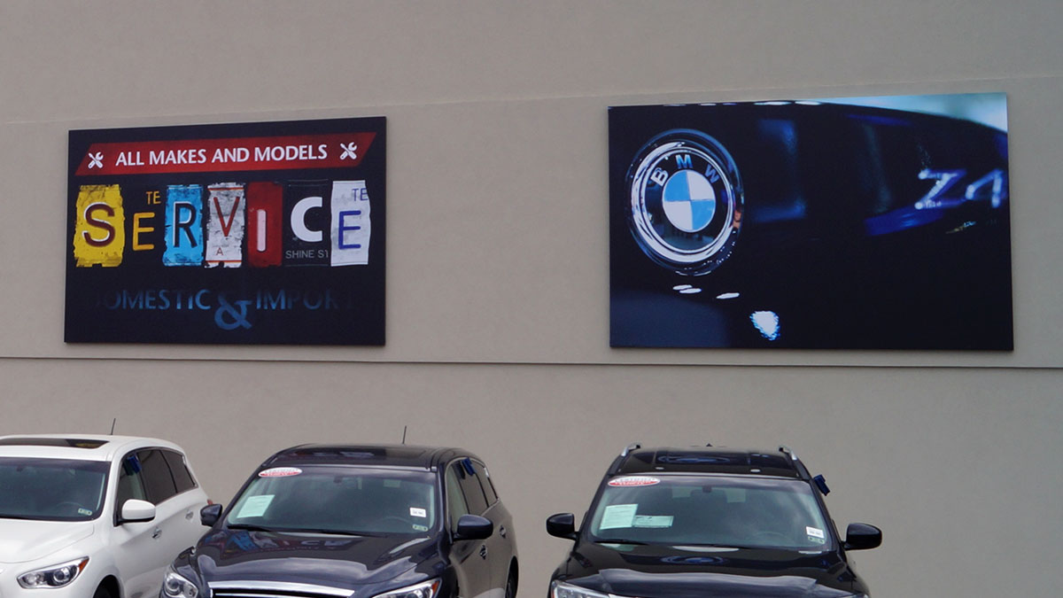 Auto Dealer Wall Graphics Installed By Texas Custom Signs