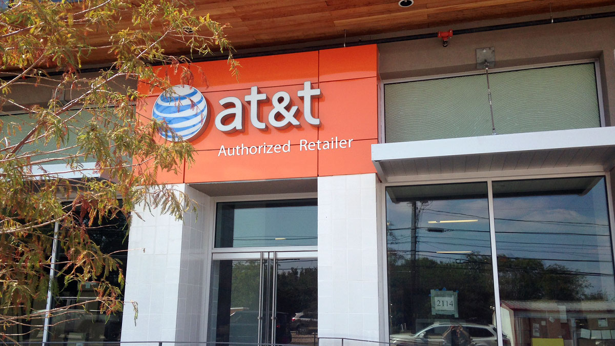 AT&T Sign Installed By Texas Custom Signs