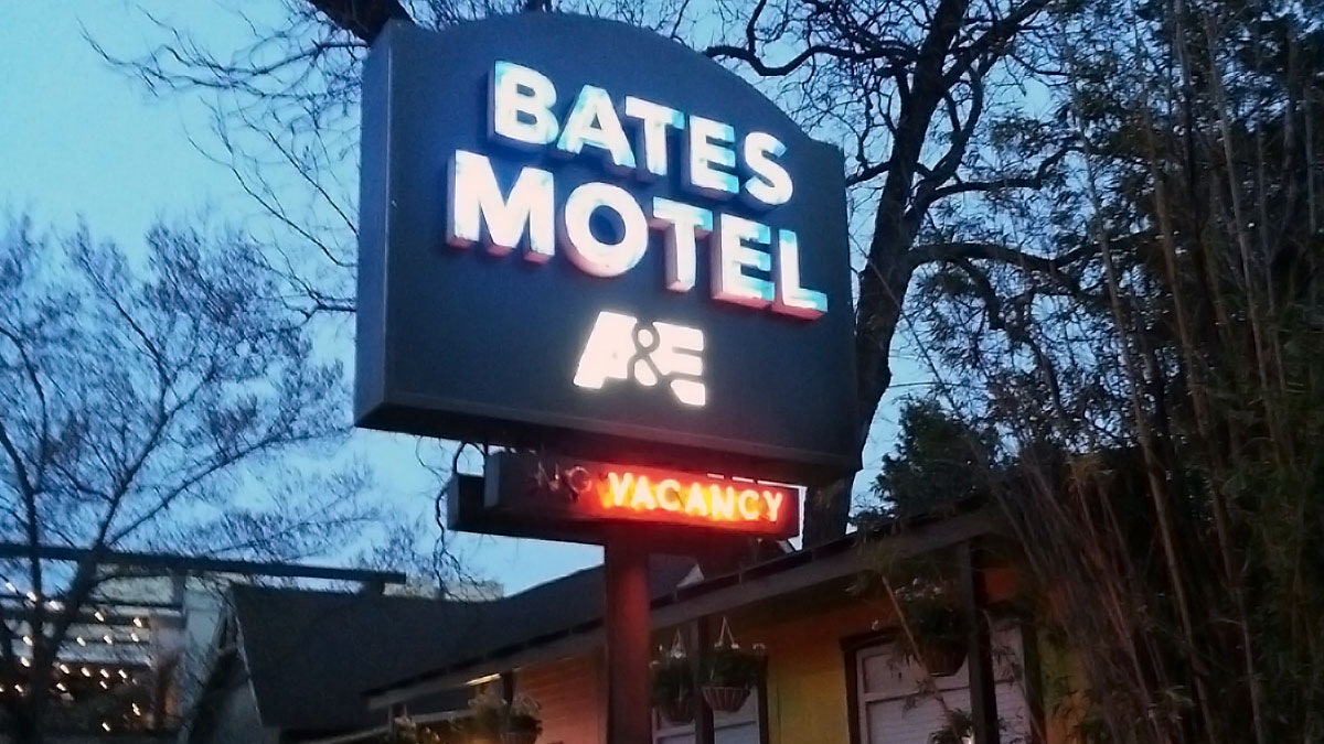 Bates Motel Sign Installed By Texas Custom Signs