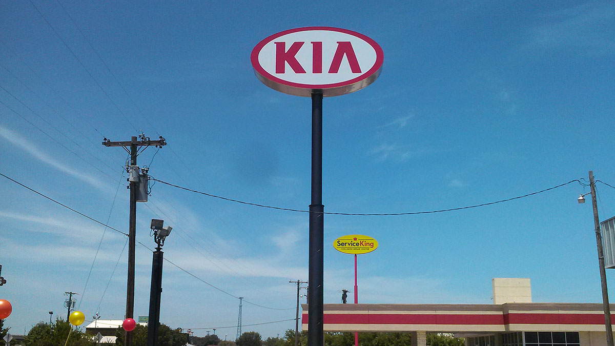 Kia Sign Installed By Texas Custom Signs