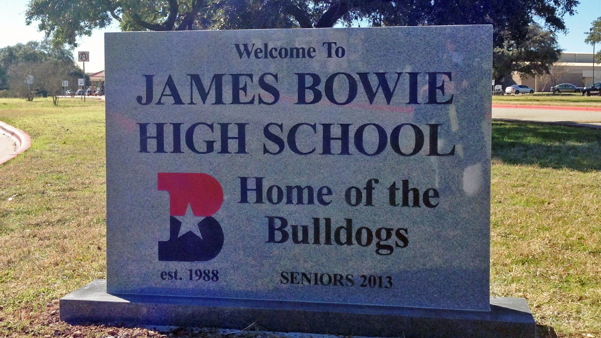 Bowie High School Sign Built And Installed By Texas Custom Signs