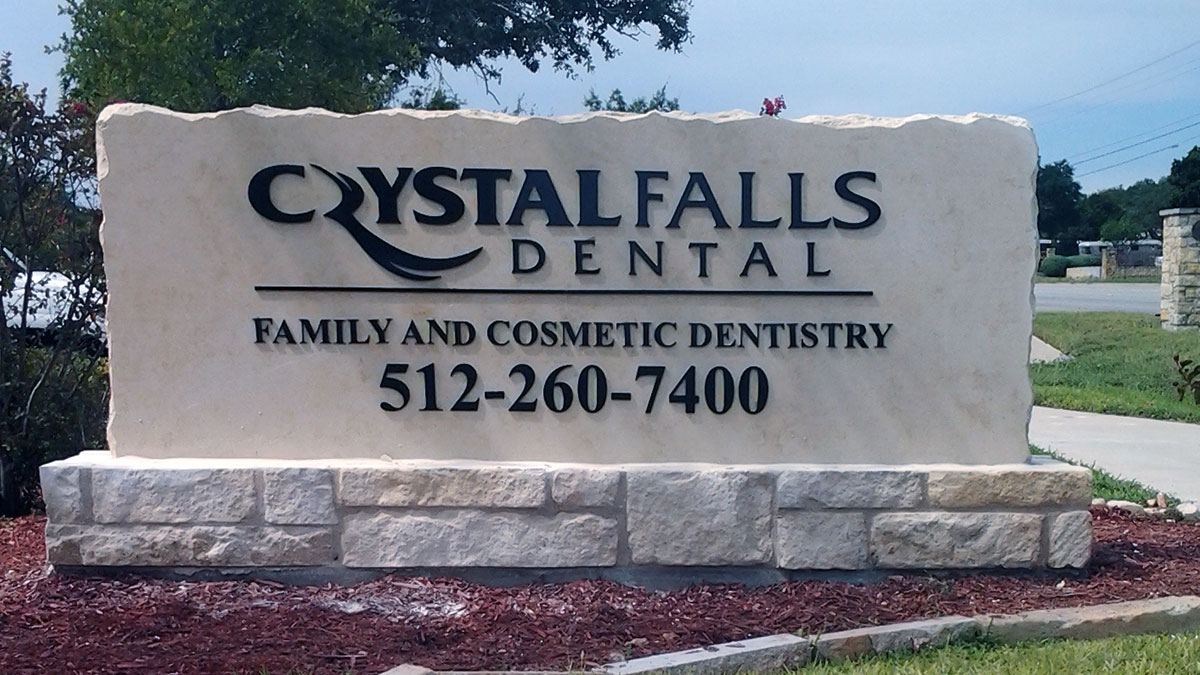 Crystall Falls Dental Sign Built And Installed By Texas Custom Signs