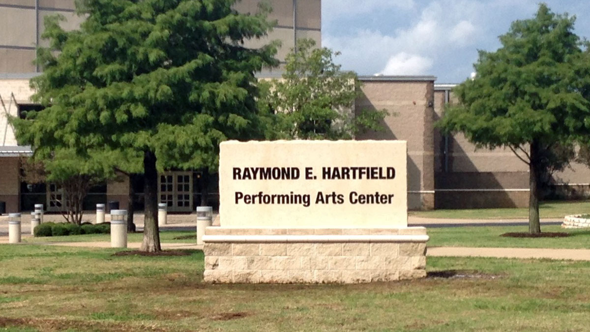 Hartfield PAC sign built and installed by Texas Custom Signs