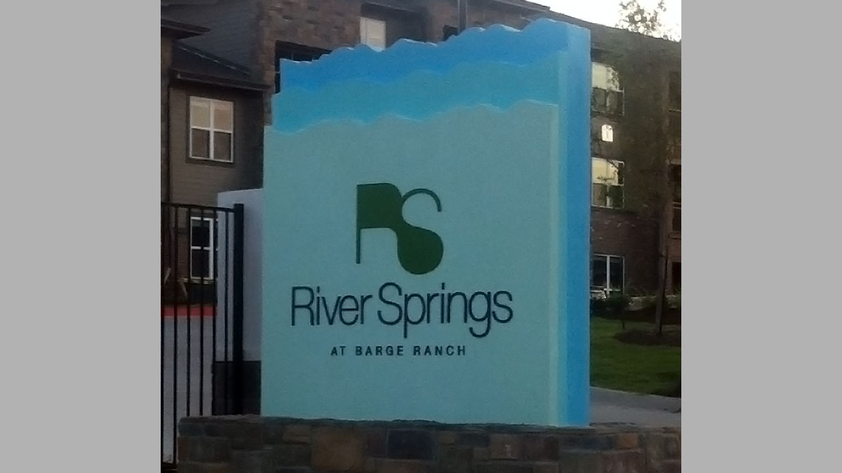 River Springs Sign Built And Installed By Texas Custom Signs
