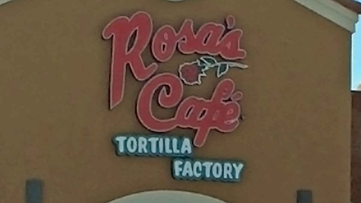 Rosa's Cafe Sign Built And Installed By Texas Custom Signs