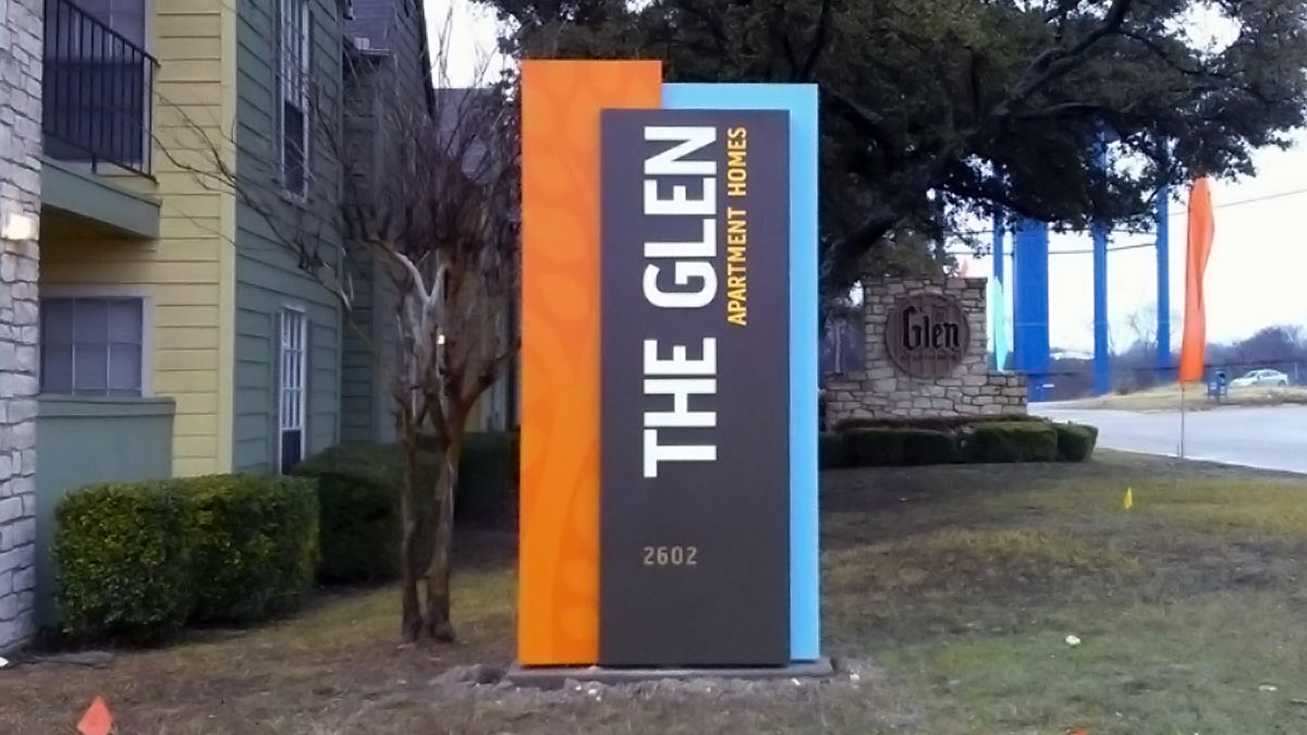 The Glen Sign Built And Installed By Texas Custom Signs