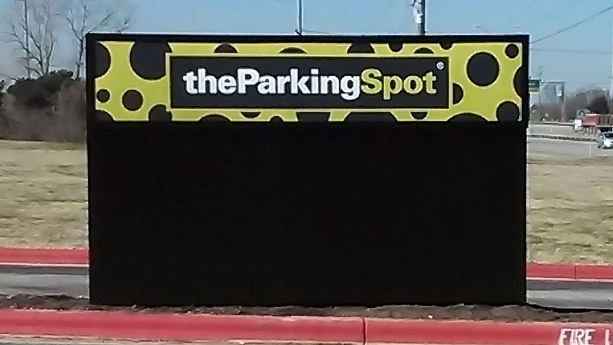 The Parking Spot Signs Built And Installed By Texas Custom Signs
