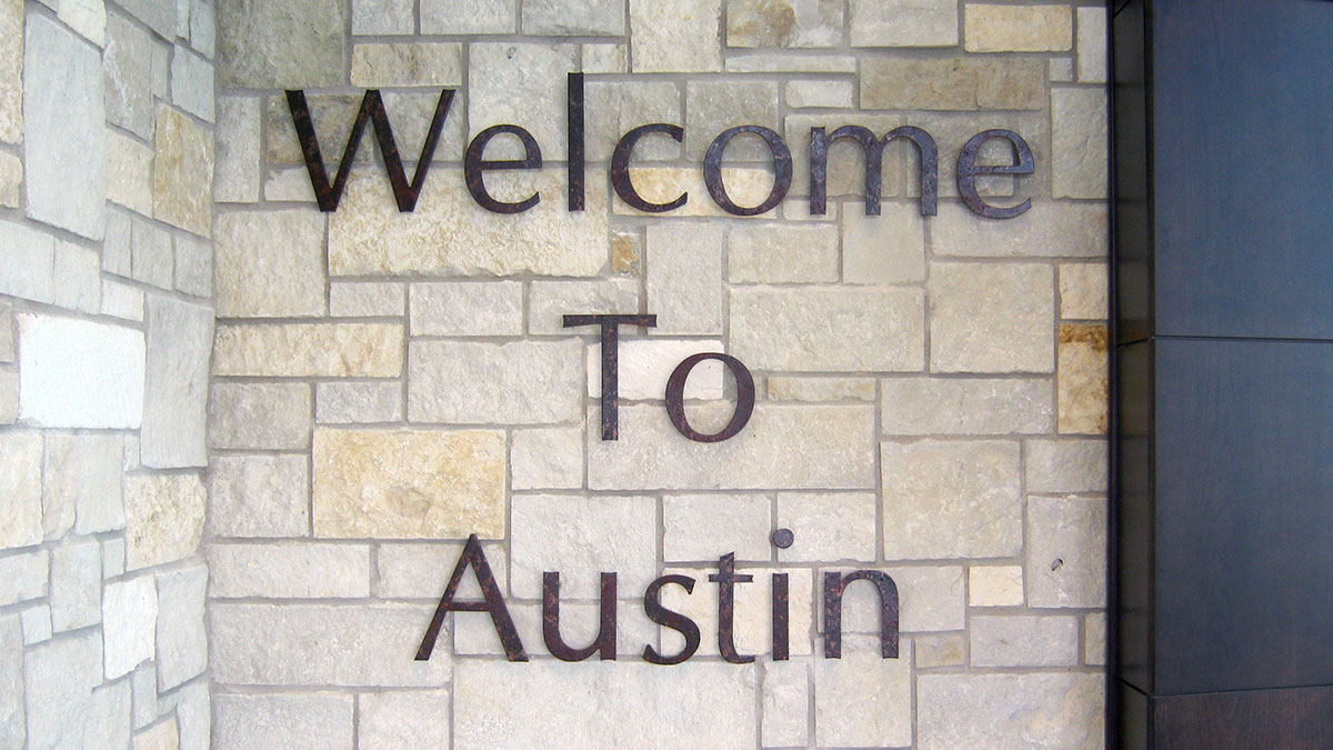 Austin-Bergstrom International Airport Sign Built And Installed By Texas Custom Signs