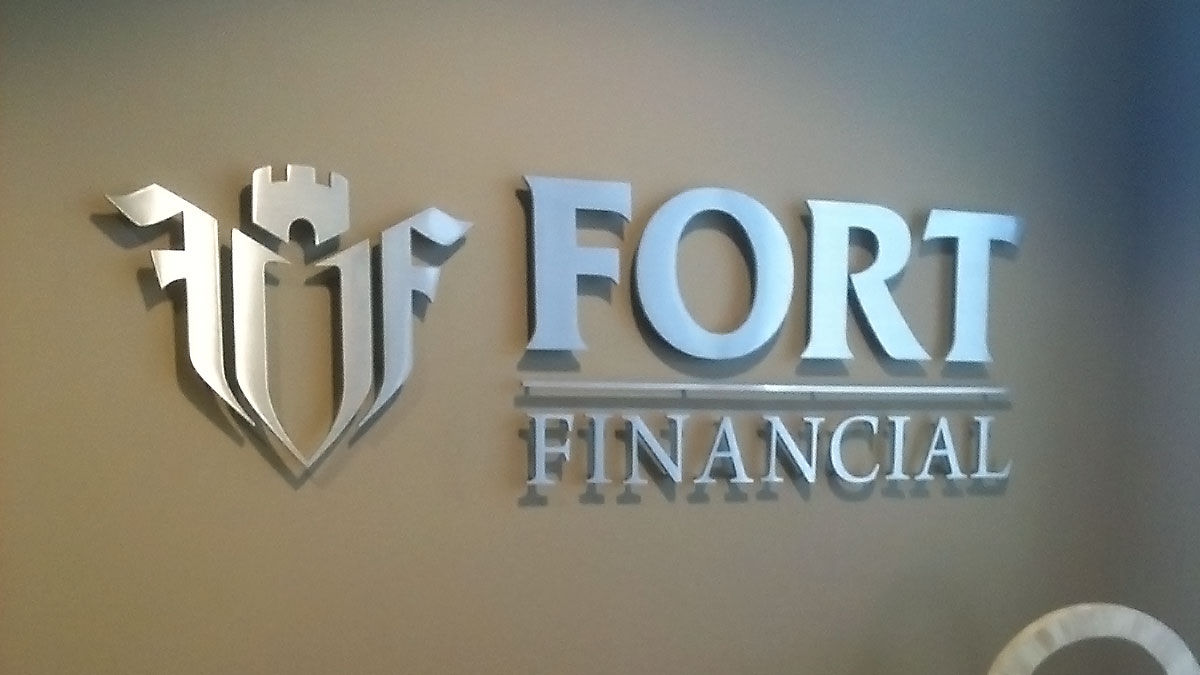 Fort Financial Sign Built And Installed By Texas Custom Signs