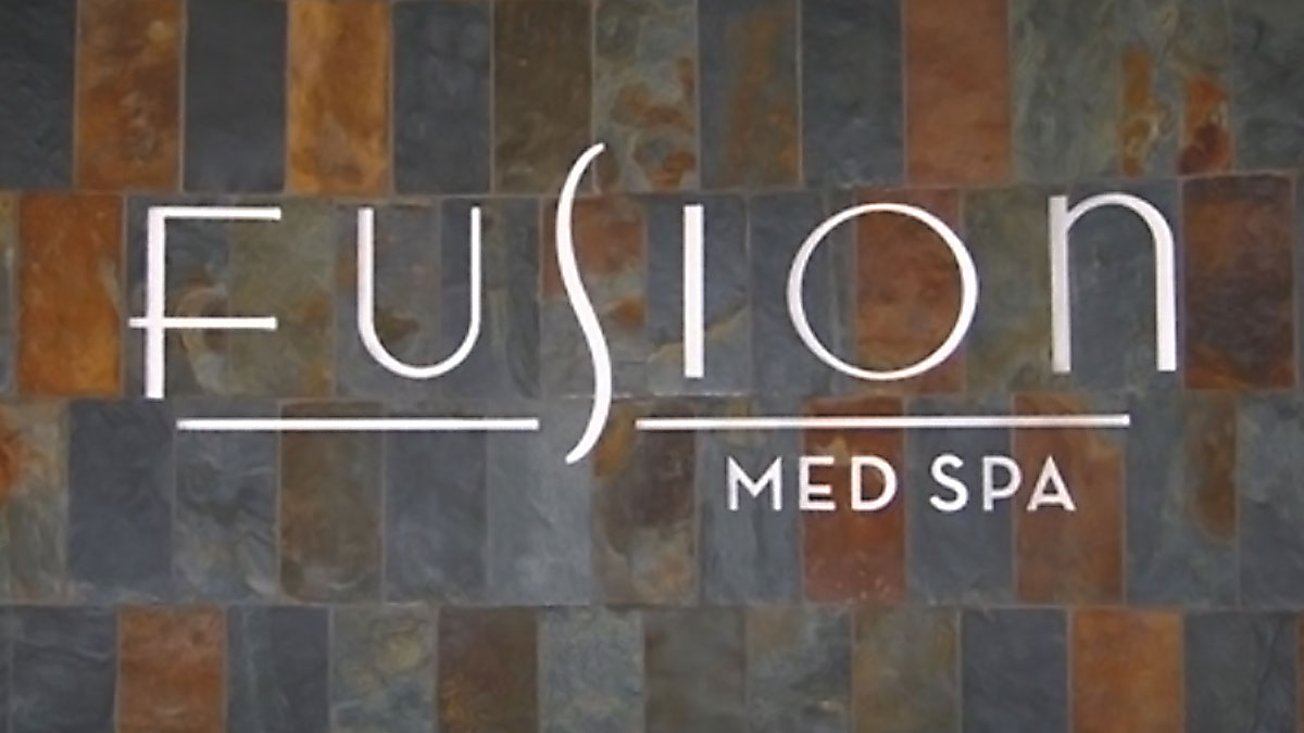 Fusion Med Spa Sign Built And Installed By Texas Custom Signs