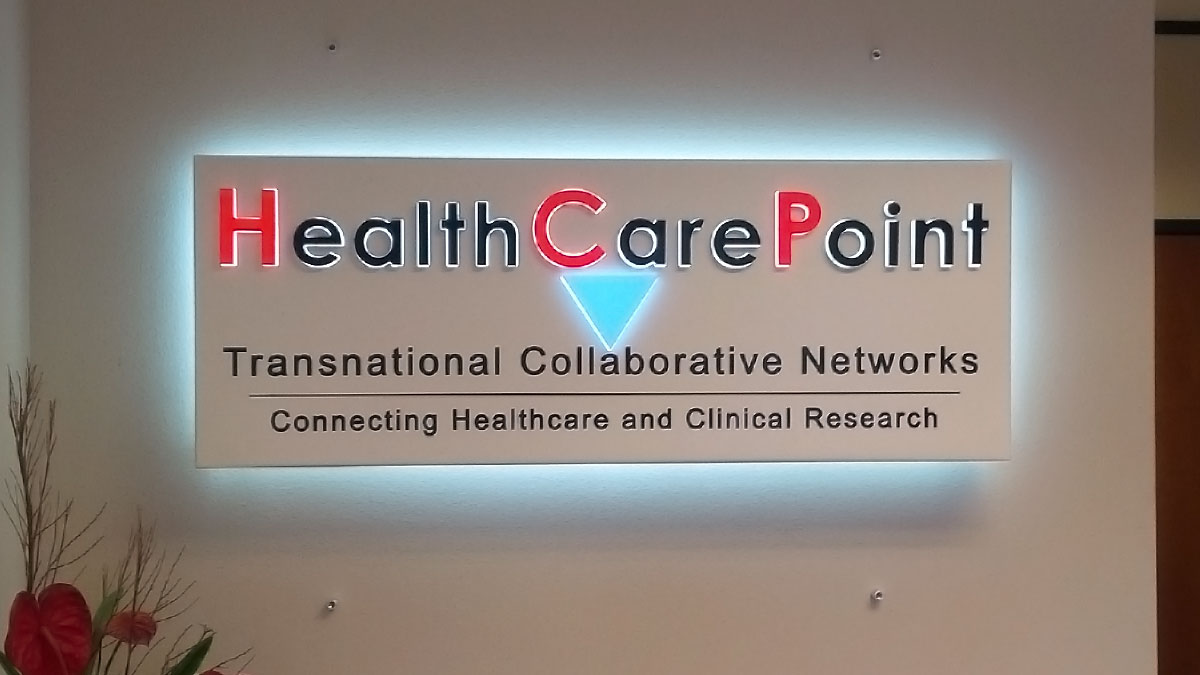 HealthCarePoint sign built and installed by Texas Custom Signs