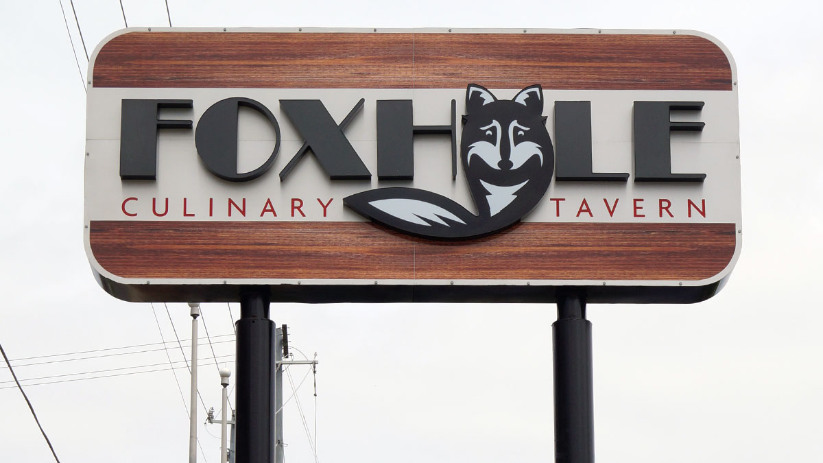 Foxhole Sign Built And Installed By Texas Custom Signs