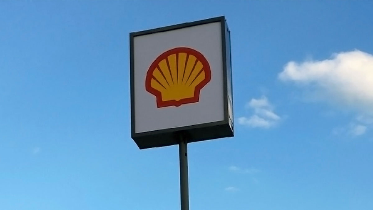 Shell Sign Built And Installed By Texas Custom Signs