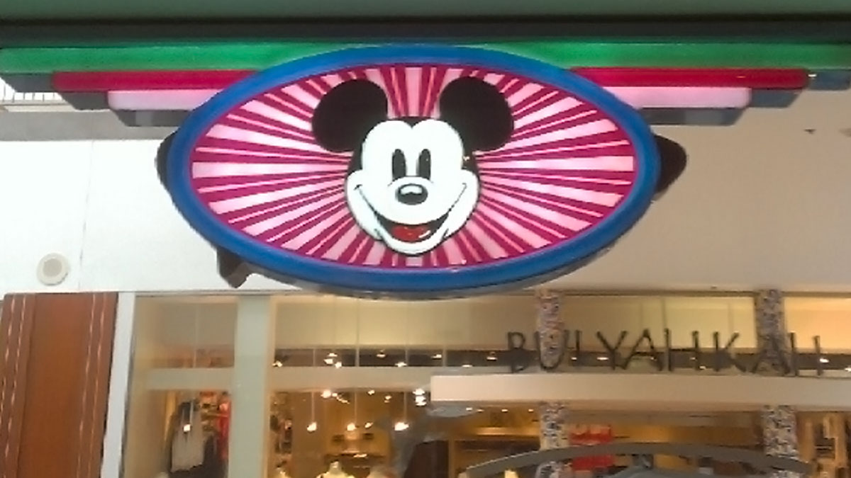 Disney Store Sign Repaired By Texas Custom Signs