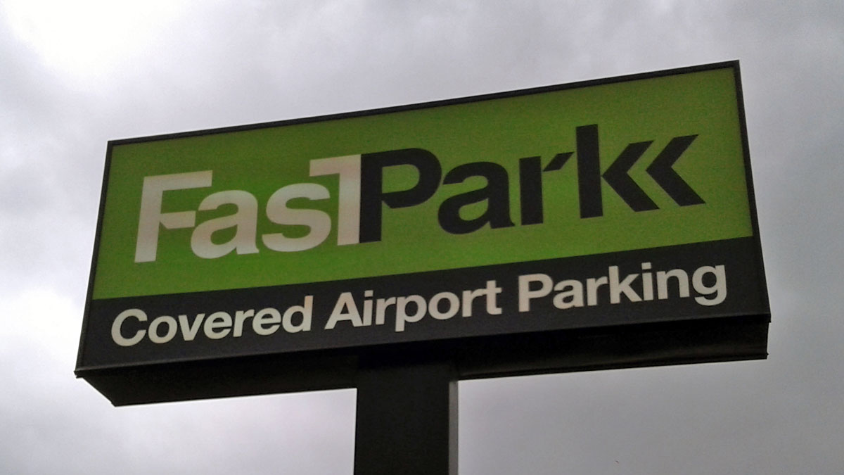 FastPark sign repair in Austin, Texas