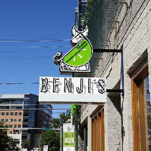 Benji's - Another Unique Sign From Texas Custom Signs