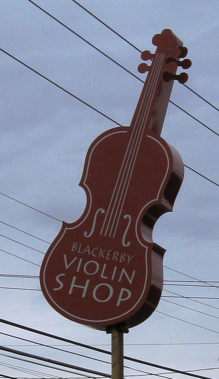 Blackerby Violin Shop - Another Unique Sign From Texas Custom Signs