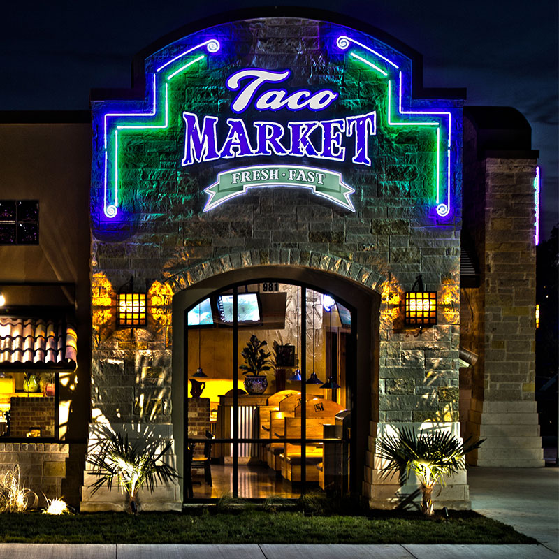 Taco Market - Another Unique Sign From Texas Custom Signs
