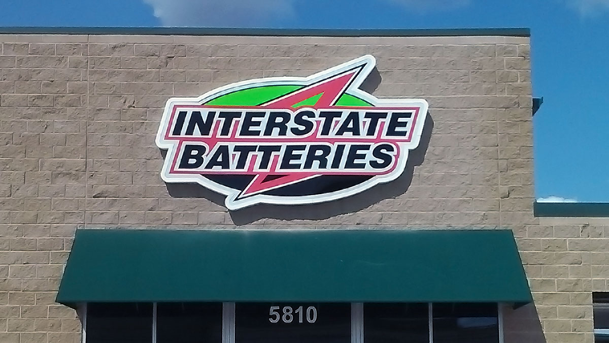 Interstate Batteries Sign built and installed by Texas Custom Signs