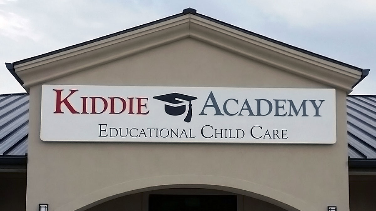 Kiddie Academy Sign built and installed by Texas Custom Signs